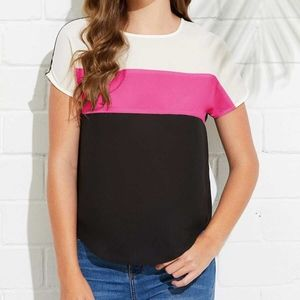 SHEIN Cut And Sew Curved Hem Top - Size S